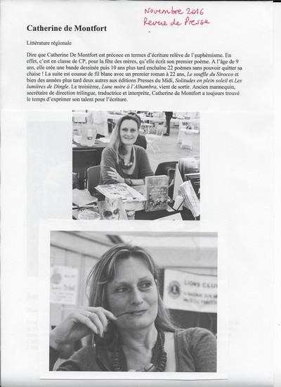 Bis_REVUE DE PRESSE - Novembre 2016 Catherine de Montfort